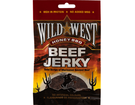 Wild West Honey & barbecue  beef jerky 25g