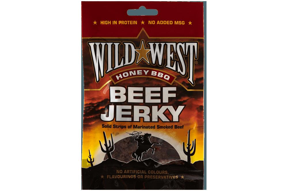 Wild West Honey & bbq beef jerky 85g