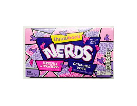 Wonka Nerds Seriously strawberry - grape theater box